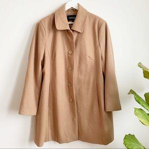 George Plus Wool Blend Tan Coat Size 2X